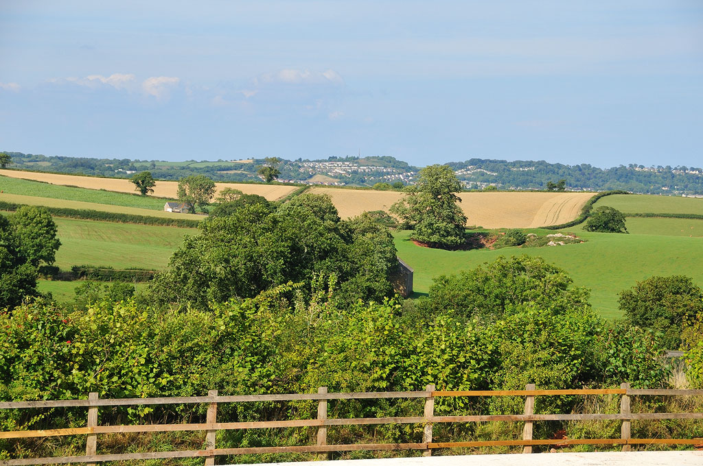 Occombe Cafe view over fields