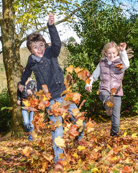 Fun at Cockington in the leaves