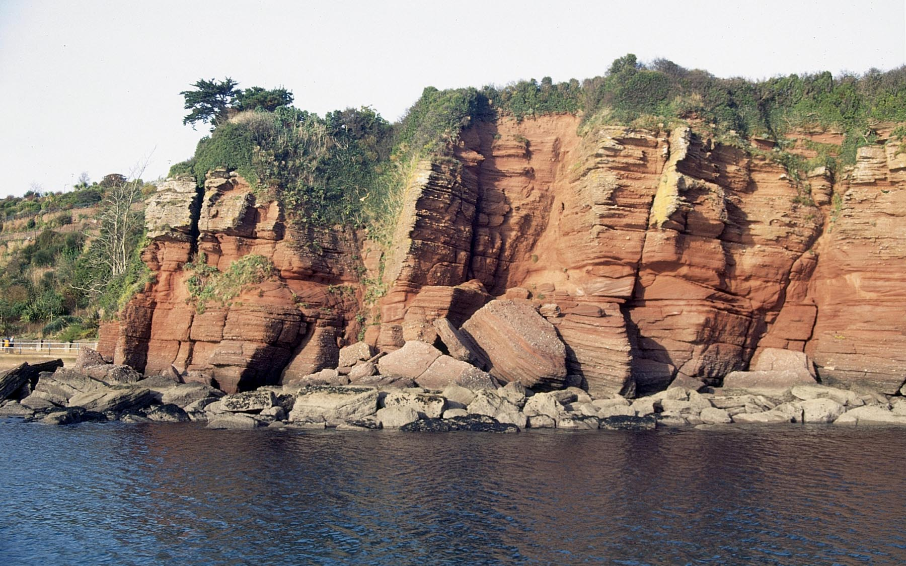 Paignton beach cliffs