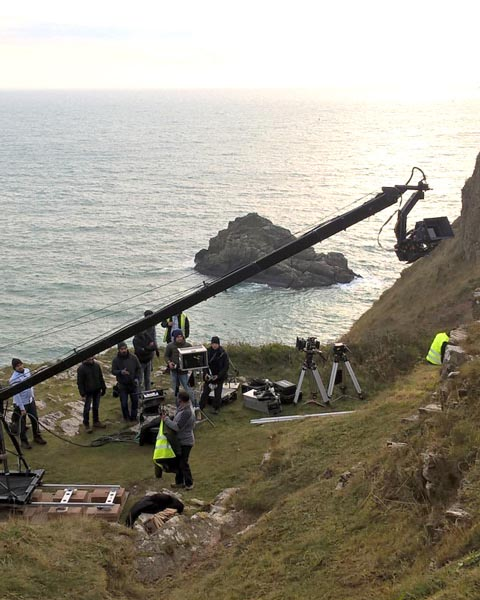 Filming at Berry Head
